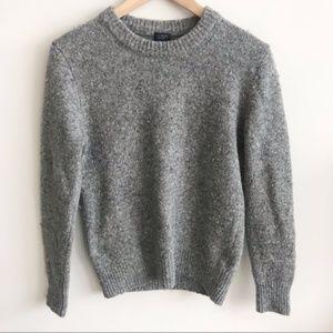 J. Crew | Gray Wool Pullover Scoop Neck Sweater XS